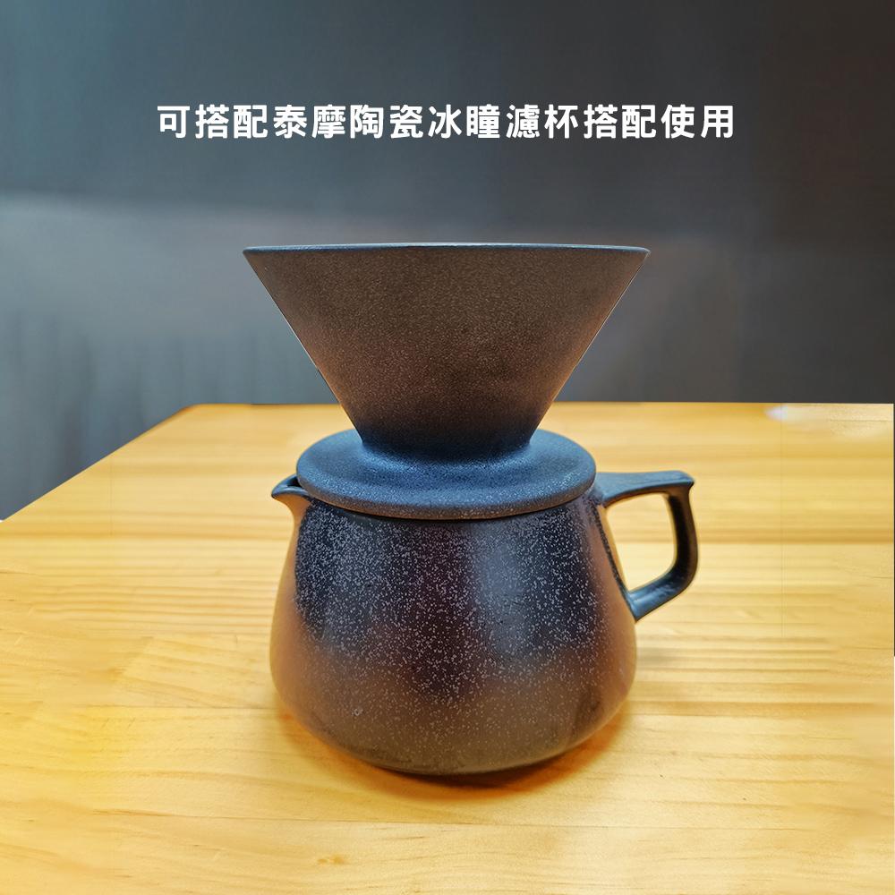 TIMEMORE泰摩天目手沖咖啡陶瓷分享壺-玄武黑