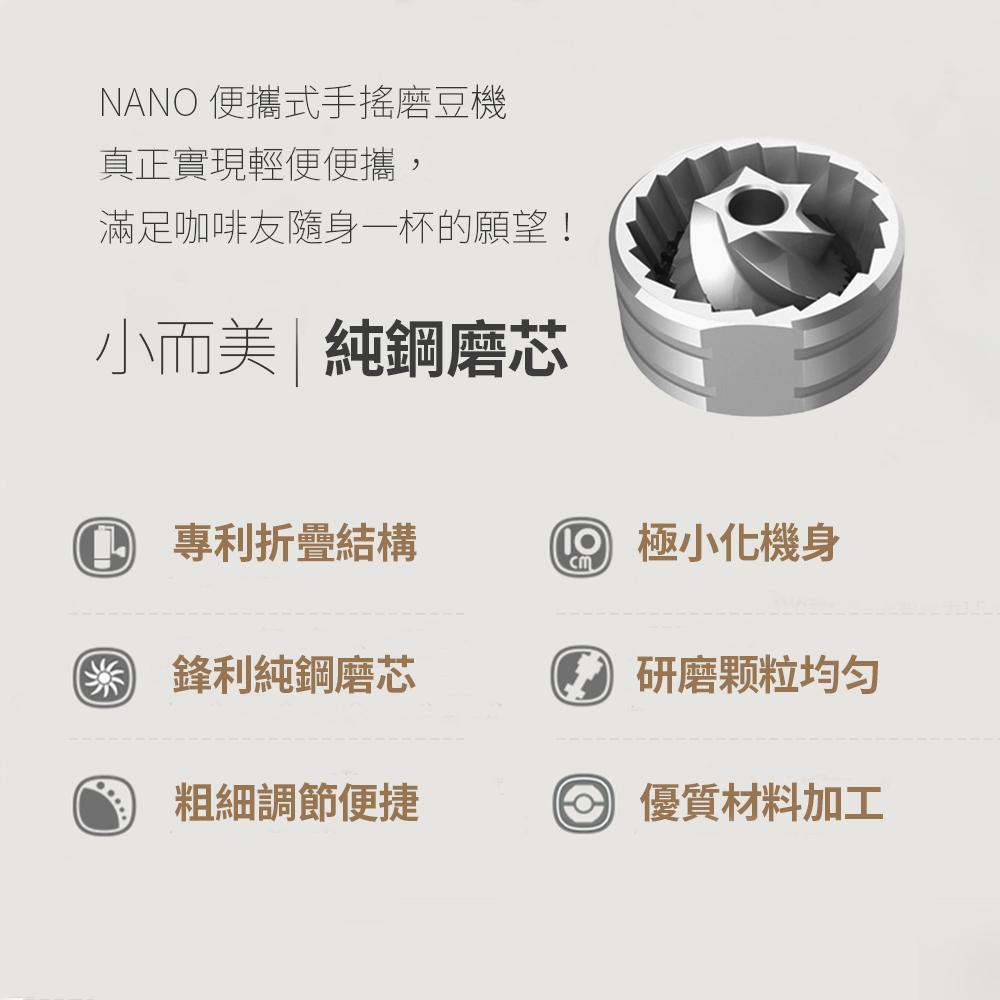泰摩TIMEMORE栗子NANO PLUS/NANO摺疊便攜式手搖磨豆機